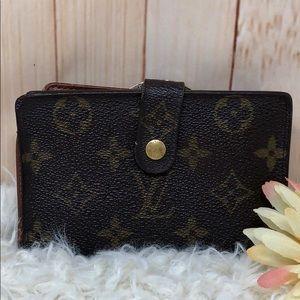 Authentic Louis Vuitton Kiss Lock Monogram Wallet